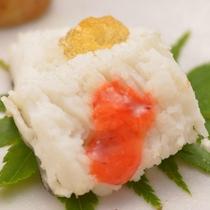 ご夕食の一例(前菜・鱧)