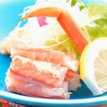 ご夕食の一例(ずわい蟹のサラダ)