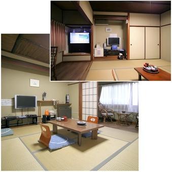 WiiとPS3を大画面の43型で。和室8畳と8畳の16畳