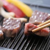 A4,A5ランクのお肉を鉄板焼きで