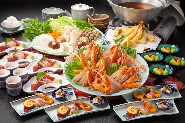 贅沢カニスキ 水明(お食事の一例)