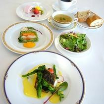 季節の鮮魚ディナーコース(2014年春)