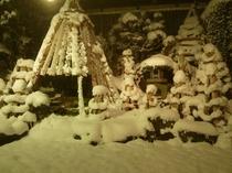 風呂からの眺め 冬の夜景