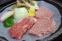 仙台牛の陶板焼き