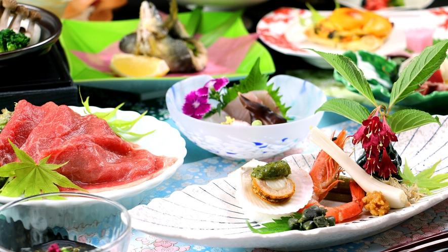 【旬菜料理】鮮やかな自然の彩り、旬の味を大切にした心づくしのお料理