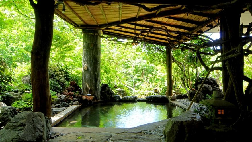 【美麗の湯】甲子高原の雄大な山々を望む、大自然の露天風呂