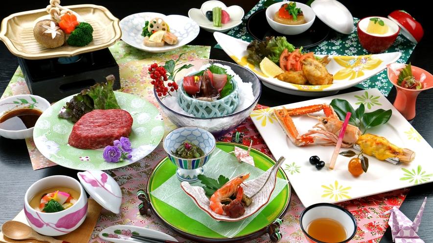 【月】当館最上級コースは極上福島牛のステーキ付♪旬の素材と頂く料理長渾身のコース!!