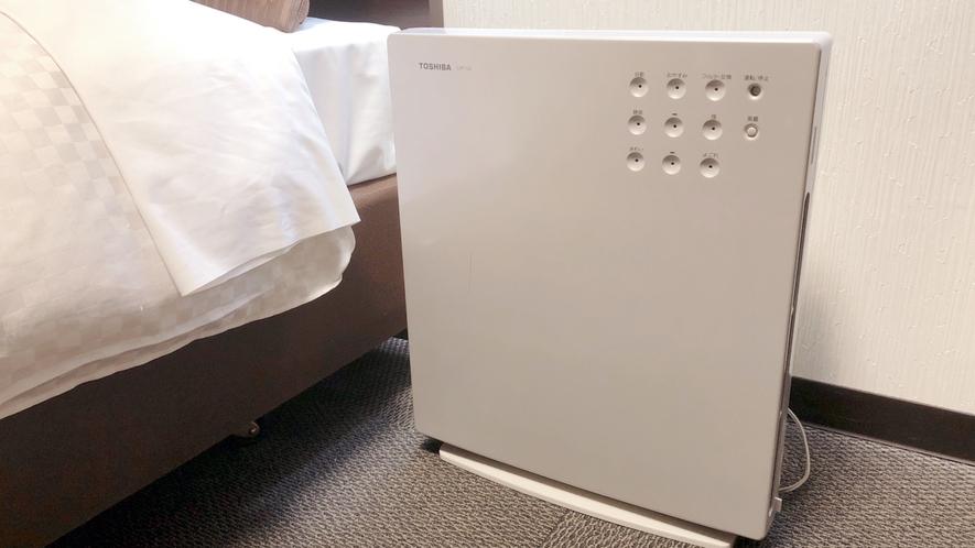本館全室、空気清浄機を設置