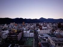 シティビュー側の朝の風景例