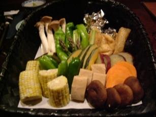 囲炉裏野菜