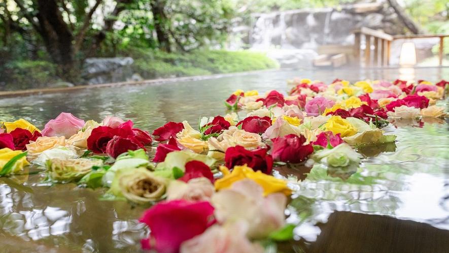 【庭の湯】薔薇妃乃湯(こもれびの湯)