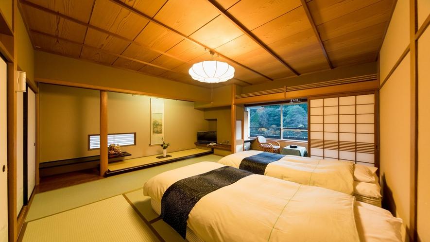 【本館】8畳ツインベッド付き和室:バス・トイレ付