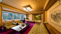 【本館】特別室:畳のお部屋と絨毯張りの応接スペースを併設