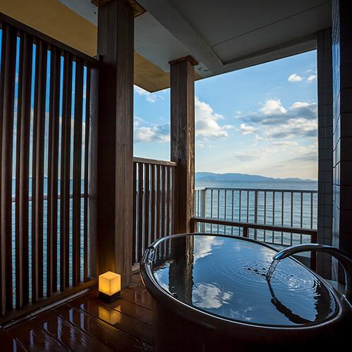 露天風呂付客室(和室10畳)露天風呂