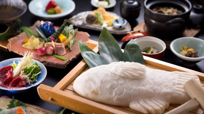 【お祝い時におすすめ】赤穂の塩で包み焼いた鯛を木槌でコツコツ割って楽しく味わう『鯛の塩釜グルメ会席』
