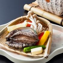 【追加料理(別注)】アワビ踊り焼き