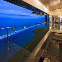 【天海の湯】開放感がありお風呂からは正面に小豆島が望めます。