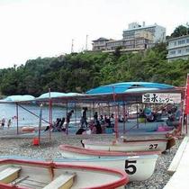 福浦海水浴場遊歩道を歩いて徒歩10分~15分程