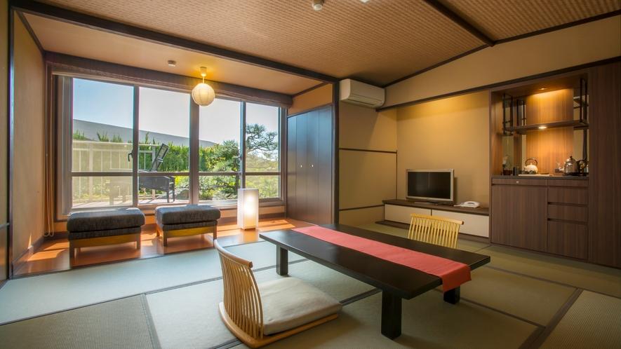 磯浜庭園側デッキテラス付客室