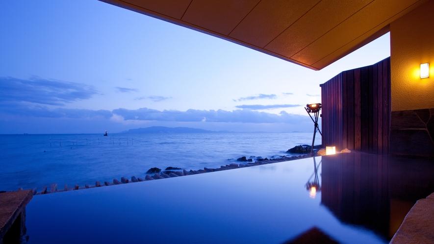 【岩海の湯】瀬戸内海を一望する露天風呂