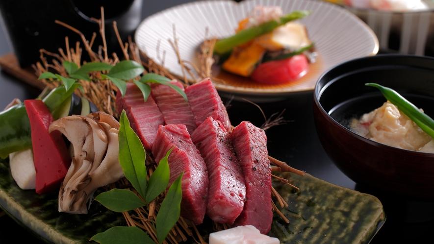 <旬の地肴と牛フィレ肉ステーキ会席>やわらかな牛フィレ肉を堪能☆