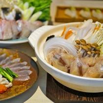 瀬戸内でとれたふぐを「ふぐちり鍋」でお楽しみ下さい!