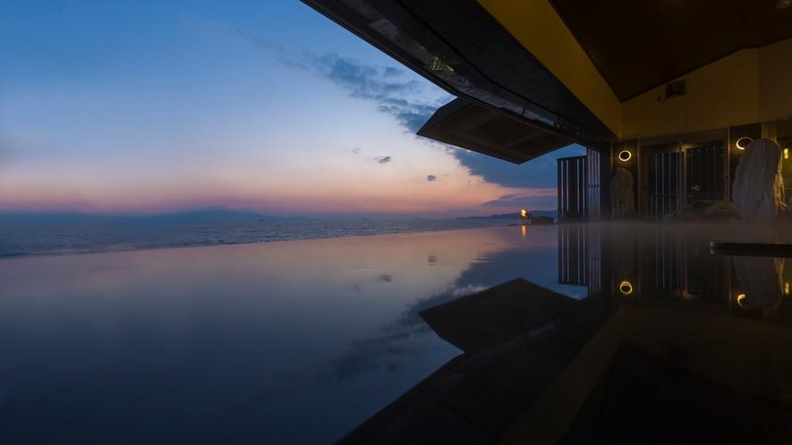 【天海の湯】陽百選の銀波荘。夕暮れの瀬戸内海を眺めながらゆっくりとお過ごしください。
