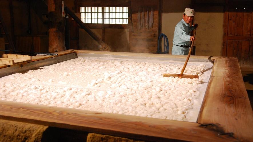 塩の国・釜揚げ風景。塩作り体験なども出来ます。