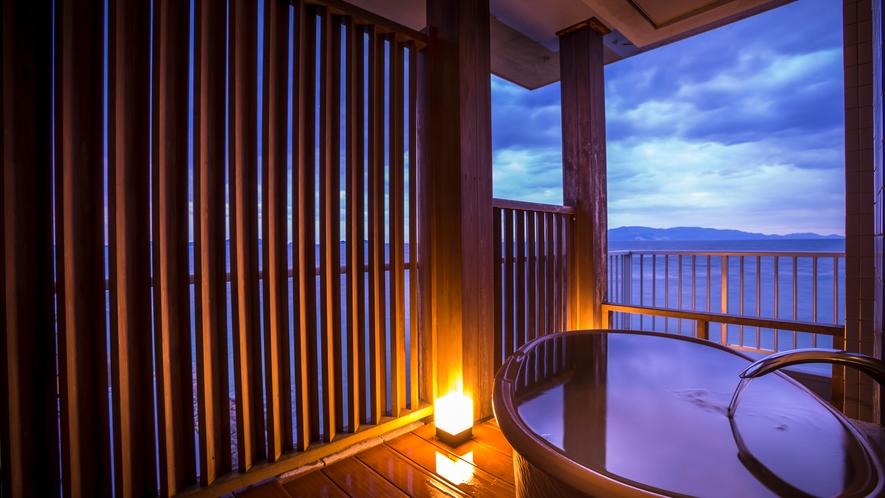 露天風呂付客室(和室10畳)<絶景海側>露天風呂