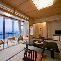 【和室10畳】お部屋からは海を臨む絶景客室!