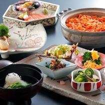 【桜鯛と旬の地野菜の会席】旬の地野菜と桜鯛をはじめとする新鮮な旬の魚介を堪能☆