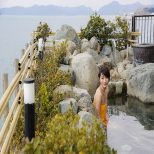 蒼海の湯 遠目 露天風呂