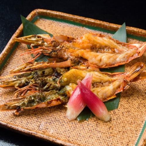 別注料理 有頭海老の鬼殻焼き
