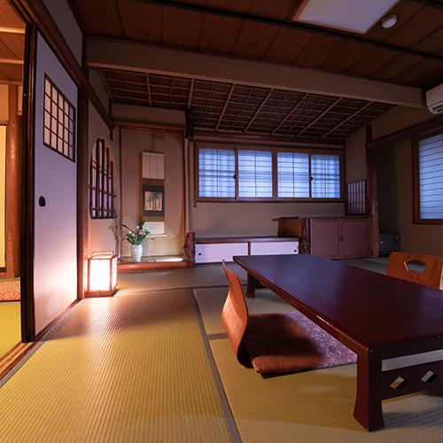 和の佇まいを感じる空間でゆったりとお寛ぎください。【和室バス・トイレなし】【グループ部屋】