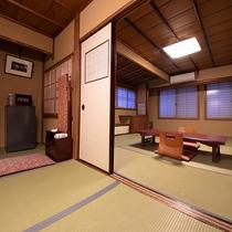 ご家族、ご友人でのご利用に最適な少し広めのお部屋。【和室バス・トイレなし】【グループ部屋】