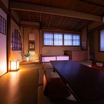 町家のような雰囲気あるお部屋へご案内いたします【和室バス・トイレなし】【グループ部屋】