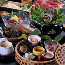 【季節の会席料理 一例】