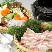 *飛騨けん豚/脂肪の少ない、ヘルシーで柔らかいお肉。