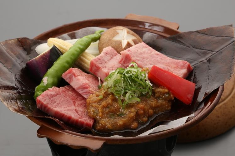 「A4飛騨牛ほう葉味噌ステーキ」