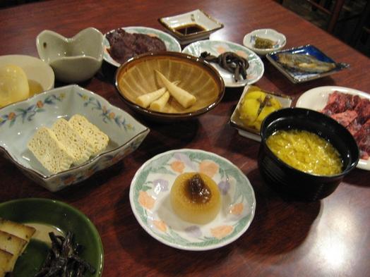 飛騨の山菜と郷土料理