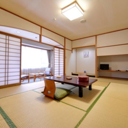 *和室12畳(客室一例)/畳の香りがほのかに薫るお部屋で団欒のひと時をお過ごし下さい。