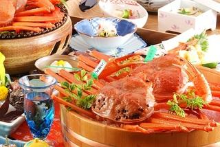 昼食・秋◆タグ付あつあつ釜揚香住カニメインにのどぐろ、お肉なども◆2・5匹のカニ料理を‥現金特価