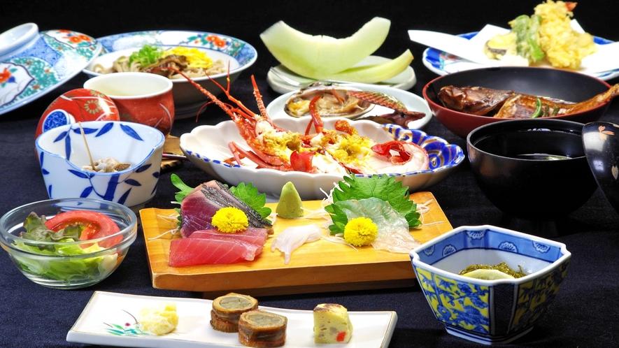 *【夕食】一例。常に新鮮な魚介類が揚る安乗。そんな美味な食材を使ったご夕食。