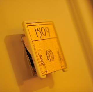 ★お部屋番号のプレートもクラシカル