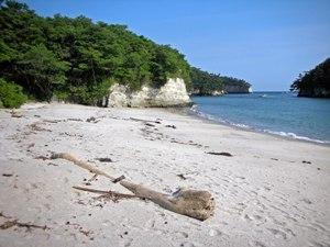 稲ヶ崎から浜辺へ