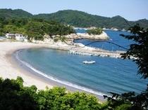 稲ヶ崎より月浜海岸