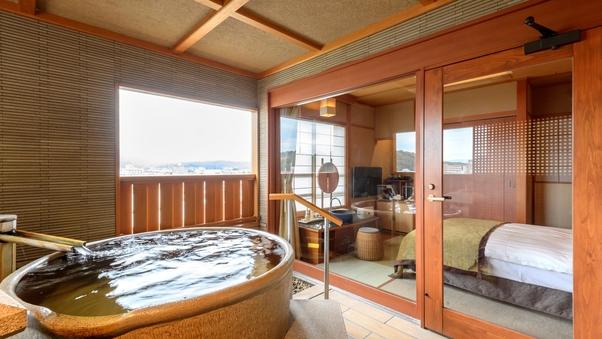 【2名様対応】陶器風呂付洋室(セミダブルタイプ):禁煙