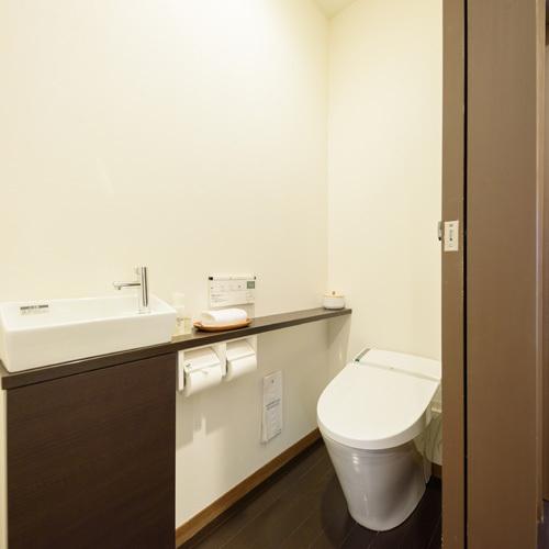 【全客室共通】温水洗浄機付トイレを完備