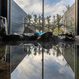【蒼-あお-】静寂の二間と小庭 和室 岩風呂と葡萄畑