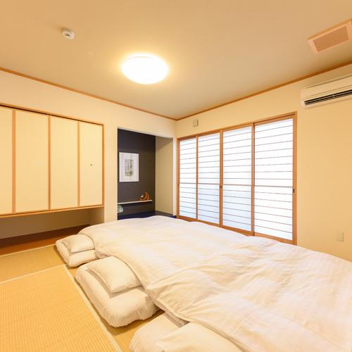 【禁煙】和室8畳2間/寝室(天然温泉岩風呂+洗浄機付トイレ)